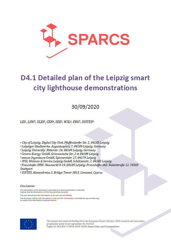 D4.01 Detailed plan of the Leipzig smart city lighthouse demonstrations