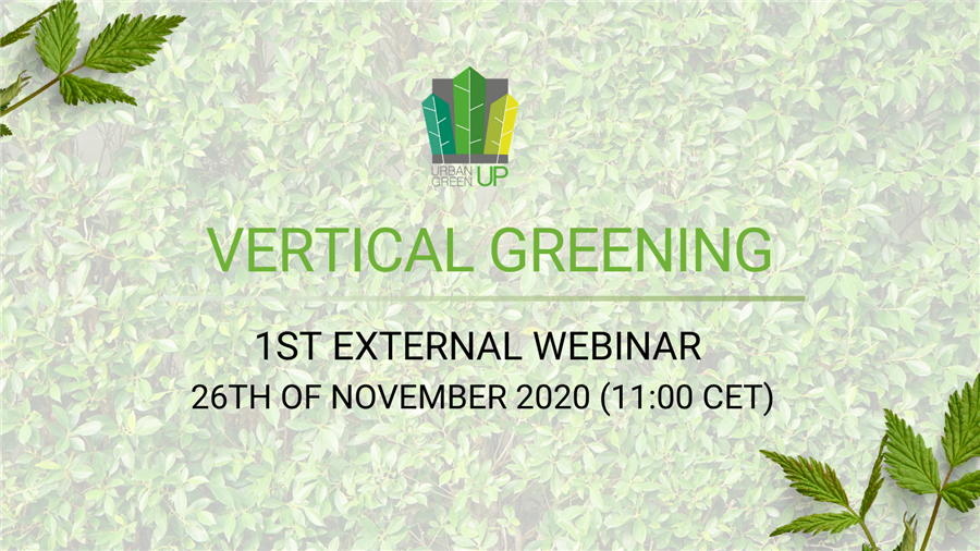 Urban GreenUP External Webinars Series: Vertical Greening Webinar