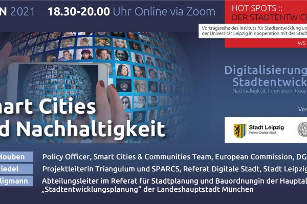 German Flyer for the Webinar HOT SPOTS: of Urban Development